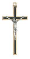"(147-17) 5"" CRUCIFIX W/BLACK EPOXY"