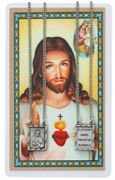 (PSD612) SCAPULAR PENDANT & PRAYER CARD