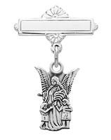 (467LT) SS GUARDIAN ANGEL BABY PIN/BOX