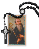 (718R) 8X10MM BLACK WOOD ST BENEDICT