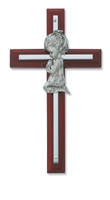 "(73-24) 6"" CHERRY GIRL CROSS SILVER"