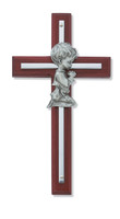 "(73-25) 6"" CHERRY BOY CROSS SILVER"