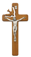 "(77-06) 8"" WALNUT HOLY SPIRIT CRUCIFIX"