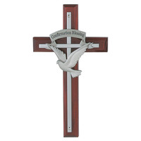 "(77-12) 7"" HOLY SPIRIT CHERRY CROSS"