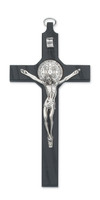 "(79-42649) 8"" BLACK ST. BENEDICT CRUCIFIX"