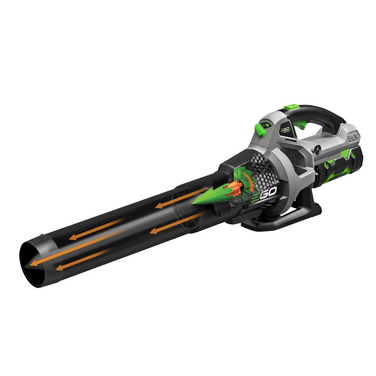 Battery Powered Blower : Ego power v cordless blower ah battery lb e kit