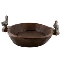 Primitive Wooden Bird Bowl