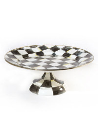 MacKenzie-Childs Courtly Check Small Pedestal Platter