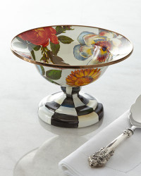 MacKenzie-Childs Flower Market Small Compote
