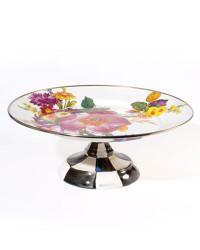 MacKenzie-Childs Flower Market Small Pedestal Platter