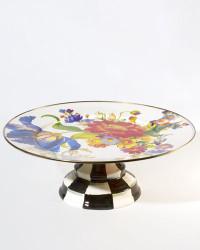 MacKenzie-Childs Flower Market Large Pedestal Platter