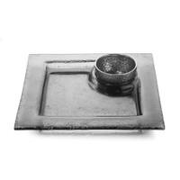 Arte Italica Notturo Square Platter with Bowl