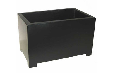 Alora Rectangular Metal Outdoor Planter 13x8x8