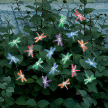 Dragonfly Solar Color Changing Light String - 20pc set