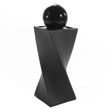 Black Ball Solar On Demand Fountain with LED Light