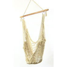 Cotton Rope Hammock Chair with Wood Bar