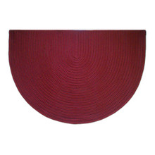 46x31 Half Round Braided Hearth Rug - Corona