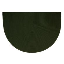 46x31 Half Round Braided Hearth Rug - Dark Green