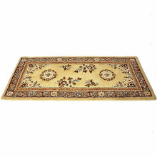 44x22 Rectangle Fire Resistant Wool Hearth Rug - Beige