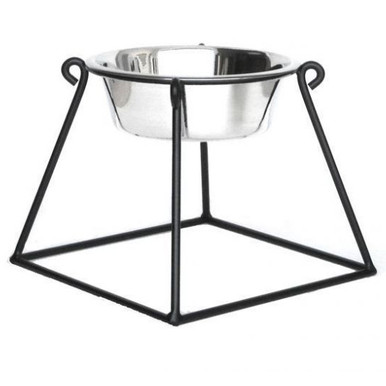 Pyramid Single-Bowl Raised Dog Feeder