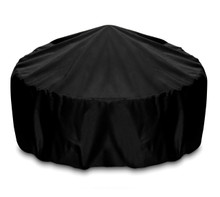 "Two Dogs 36"" Fire Pit Cover - Black"