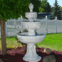 4-Tier Lion Head Water Fountain