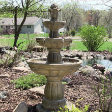 "3-Tier 48"" Outdoor Water Fountain"