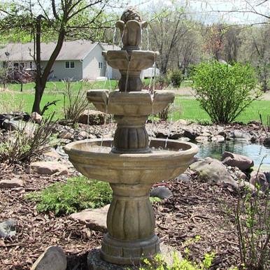 """3-Tier 48"""" Outdoor Water Fountain"""