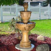 2-Tier Contemporary Lion Fountain