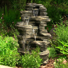 "39"" Rock Falls Fountain w/ LED Lights"