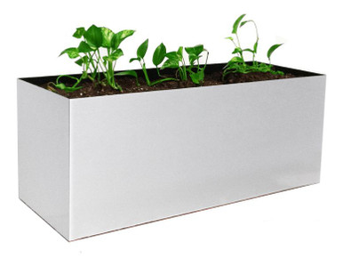 Madiera Rectangular Aluminum Outdoor Planter