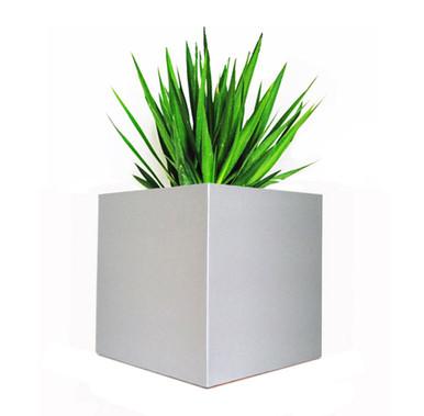 Madiera Square Aluminum Outdoor Planter 16x16x16