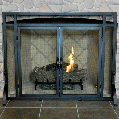 "39"" 2-Door Fireplace Screen"