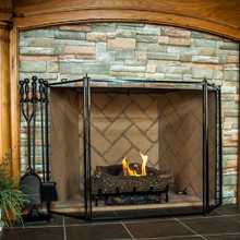"3-Fold Fireplace Screen - 52"" x 31"""