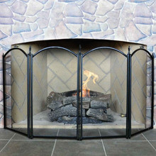 4-Fold Mini Fireplace Screen