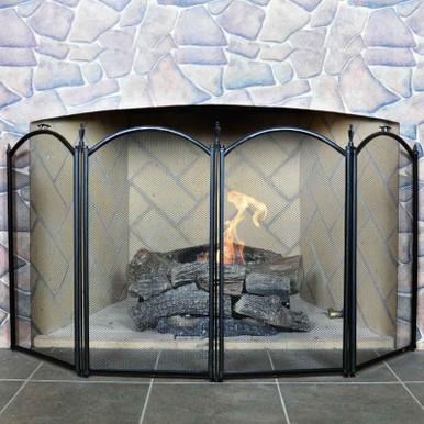 4-Fold Mini Fireplace Screen