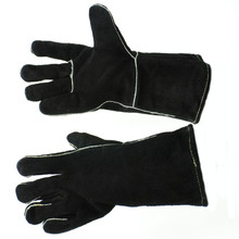 "12"" Fireplace Gloves - Black"