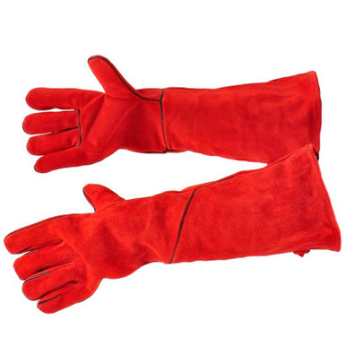 """20"""" Fireplace Gloves - Red"""