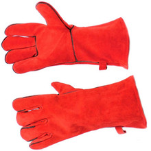 "13.5"" Fireplace Gloves - Red"