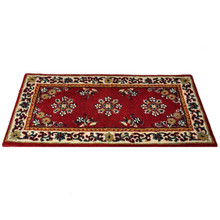 44x22 Rectangle Fire Resistant Wool Hearth Rug - Burgundy
