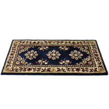 44x22 Rectangle Fire Resistant Wool Hearth Rug - Blue