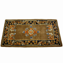 44x22 Rectangle Fire Resistant Wool Hearth Rug - Cocoa Jardin