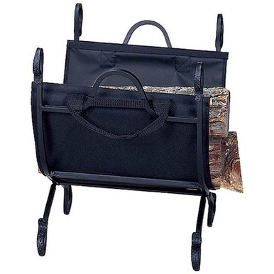Interior Log Rack & Black Canvas Carrier