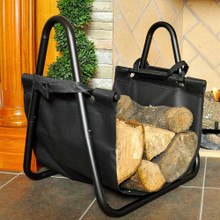 Interior Steel Log Rack & Canvas Carrier
