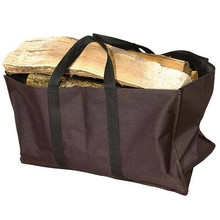 Heavy Duty Black Canvas Log Tote