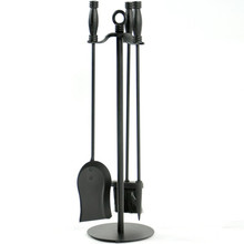 4-Piece Wrought Iron Fireplace Tool Set