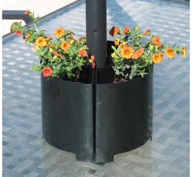 Umbrella Pole Metal Outdoor Planter 8x6