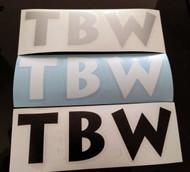 Black, White, Silver TBW Decals