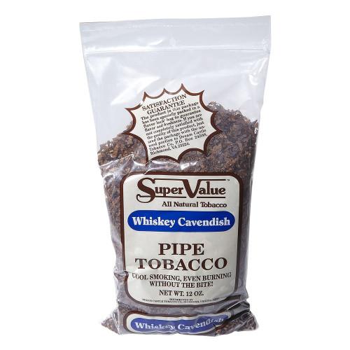 Super Value Whiskey Cavendish Pipe Tobacco   12 OZ BAG