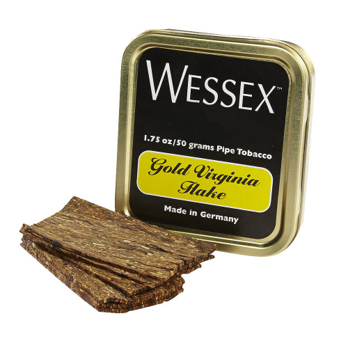 Wessex Gold Virginia Flake Pipe Tobacco | 1.75 OZ TIN